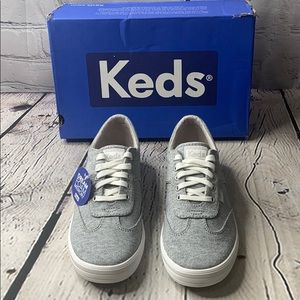 KEDS WOMENS COURTY JERSEY CHARCOAL SNEAKERS